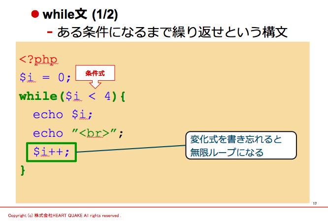 php while文と無限ループ 0からのプログラミングブログ