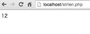 PHP strlen