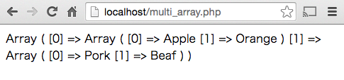 PHP 2次元配列 作成
